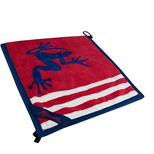 Frogger Golf Amphibian Wet/Dry Golf Towel, Red/White/Blue