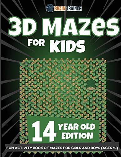 3D Mazes for Kids 14 Year Old Edition - Fun Activity Book of Mazes for Girls and Boys (Ages 14)
