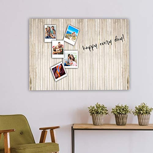 AMONE Iron Photo Wall Thin Board Stripes Picture with Pasteable and Tailorable Magnets Mounted Bulletin, Magnetic, Message Board, 30'× 17.7'(1)