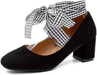 BalaMasa Womens Bows Ribbons Travel Urethane Pumps Shoes APL10484