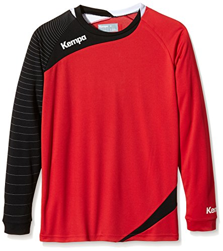 Kempa Teamsport Circle Langarm Shirt rot/schwarz, Größe Kempa:XL