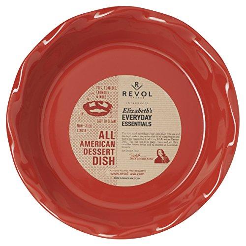 "REVOL 646680 All All American Dessert Pie Dish, 10.5"", Pepper Red"