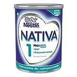 Nestlé NATIVA 1 - Leche para lactantes en polvo - Fórmula Para bebés - Desde el primer día - 800g