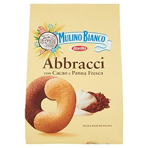 Mulino Bianco Biscotti Frollini Abbracci Ricchi con Cacao e Panna Fresca, Colazione Ricca di Gusto, 700 gr