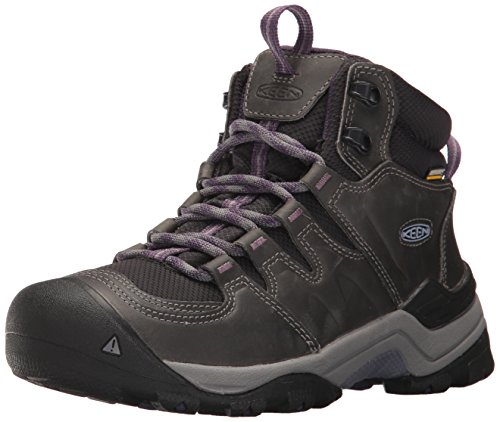 KEEN Women's Gypsum II MID WP-W Hiking Boot, Earl Grey/Purple Plumeria, 7.5 M US