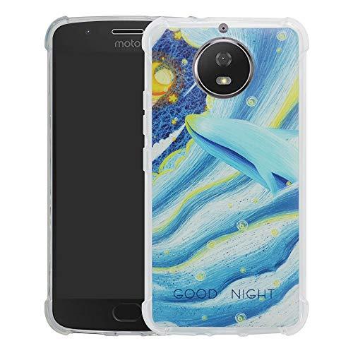 HHDY Motorola Moto G5S Cover,Brand Custodia Gel Morbida Disegni Bumper Ultra Leggera Sottile TPU Schema Case per Motorola Moto G5S,Whale