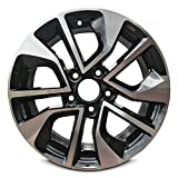Road Ready Car Wheel for 2013-2015 Honda Civic 16'' Black Machine Aluminum Rim Fits R16 Tire - Exact OEM Replacement - Full-Size Spare