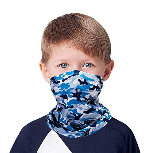 MOBUR Kids Face Mask Neck Gaiter Cooling Kids Face Scarf Mask Boy Girl Balaclava (Camouflage-2)