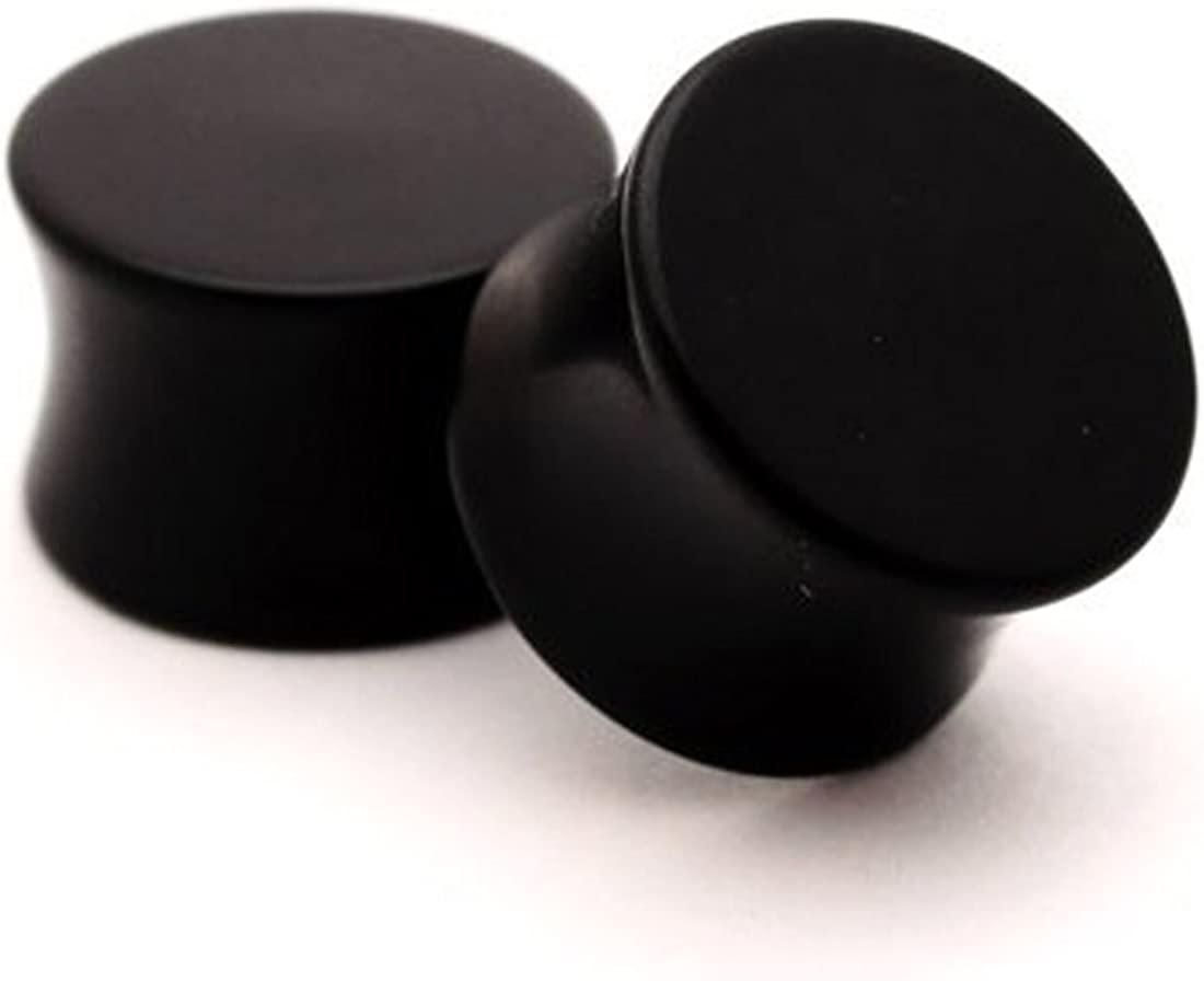 Mystic Metals Body Jewelry Black Acrylic Plugs Japan's largest assortment 1 Inch 2 12mm Max 85% OFF -