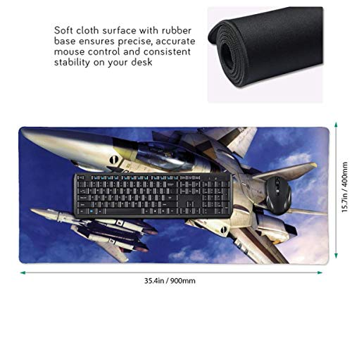 Macross Frontier Mouse Pad XL 35.5'' X 15.8'', TUKAPOKA Gaming Mouse, Computer Mouse Pads, Large Mouse Pad, Gaming Desktop, Gaming Desk Mat, Gaming Accessories