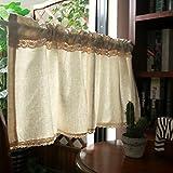 Kitchen Curtains Tende Cucina Country Tenda Doccia Mezza Tenda Finestra Cotone Tende da caffè Tenda Corta per Cucina Mantovana Tenda Camera Tenda Bistrò