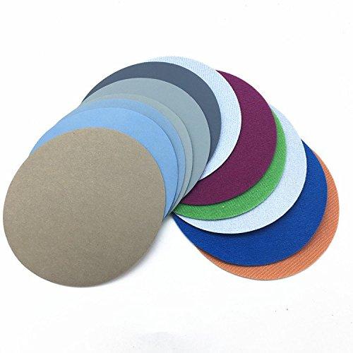 30pcs 125mm Wasser Schleifpapier 5inch Grit 1500-10000 Mix Grit Set Schleifscheiben Hook Loop Schleifpapier Runde Sandpapier Disk Sand Sheet