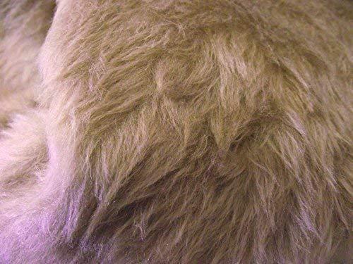 CRS Fur Fabrics Plain Fun Material de la Tela de Piel sintética Color marrón