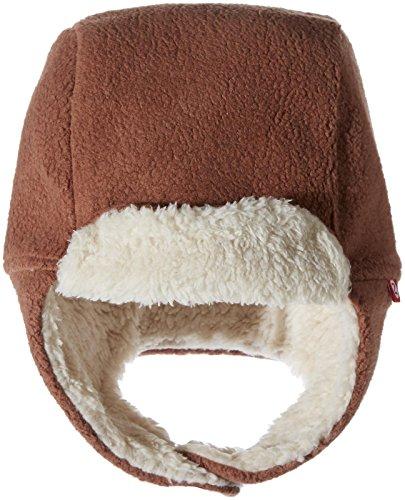 Zutano Girls' Cozie Fleece Furry Trapper Hat, Chocolate, 3T
