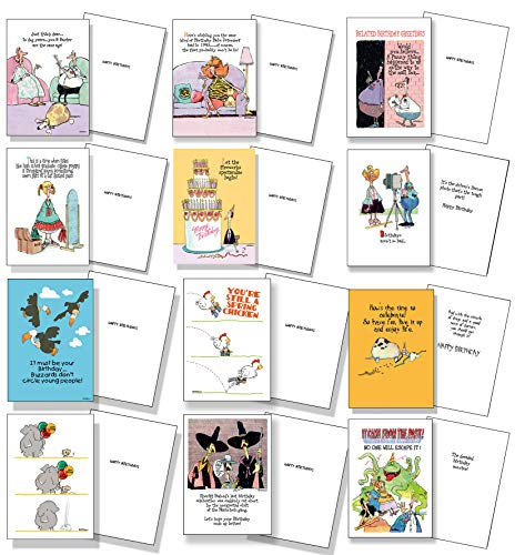 12 Funny Birthday Cards - Birthday Card Assortment