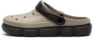 WYTX Talla 40-45 Sandalias Planas de Verano para Hombres Resbalón en Zapatillas de Playa de Agua Transpirable Zapatos Amar...