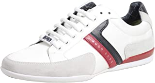 Hugo Boss Men's Spacit Open White Trainers Sneakers Shoes, 45 EU
