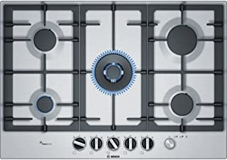 Bosch 博世 serie 6?pcq7?a5m90 内置式天然气炉灶 瓦斯 gas 不锈钢炉灶?–?(嵌入式、不锈钢、铸铁、1000?W )