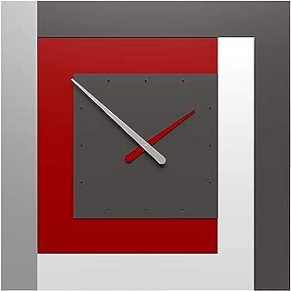 CalleaDesign - Clock63 Ruby - Stripes Collection