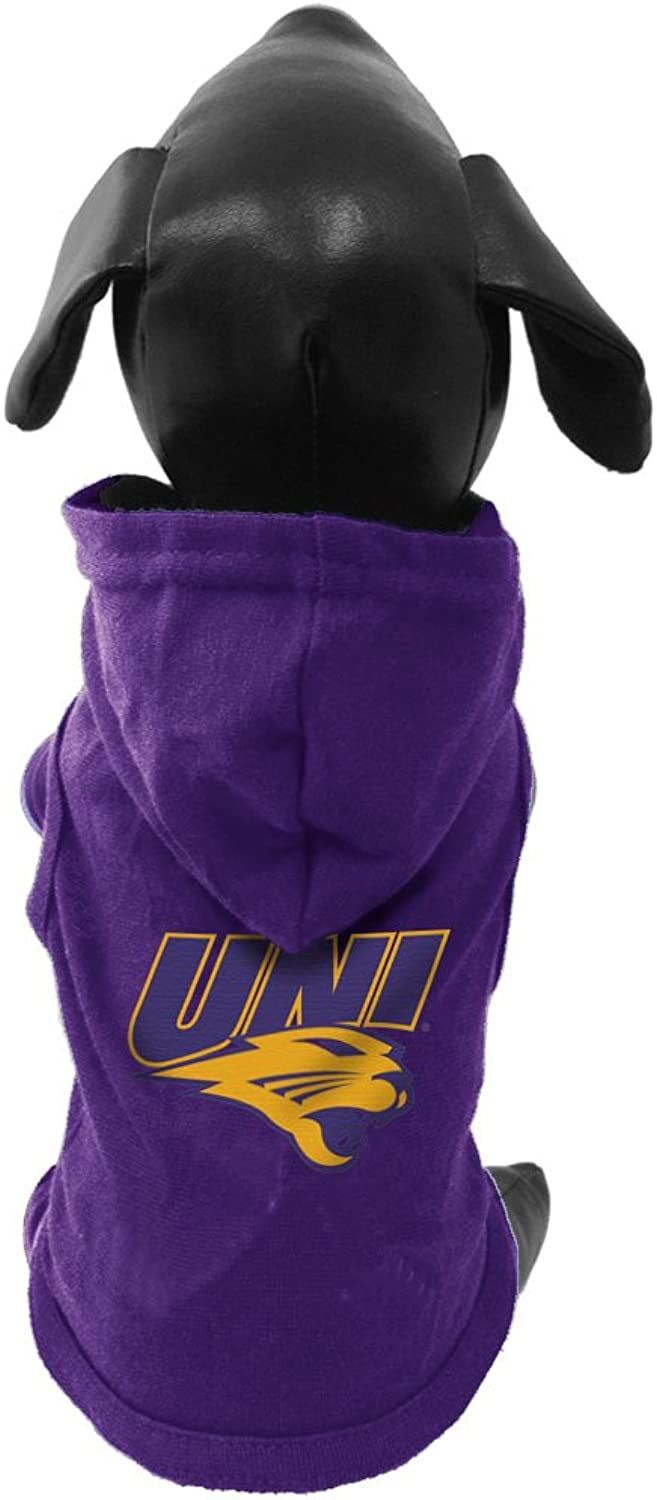 All Star Dogs Northern Iowa Panthers Cotton Lycra Hooded Dog Shirt, XLarge