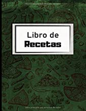 Libro De Recetas: Cuaderno para escribir receta | Libro de cocina personalizado para anotar 100 Recetas | Dimensiones:  21,59 cm x 27,94 cm | Idea de regalo