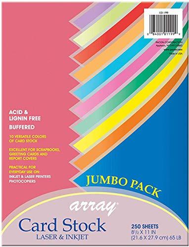 Pacon cartulina, Colorful Color Assortment, 250 Sheets