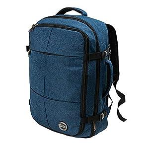 Mochila de Cabina Expandible Uppsala Equipaje de Mano y Carry on 55x40x20 expande hasta 55x40x25 (Azul Atlántico)