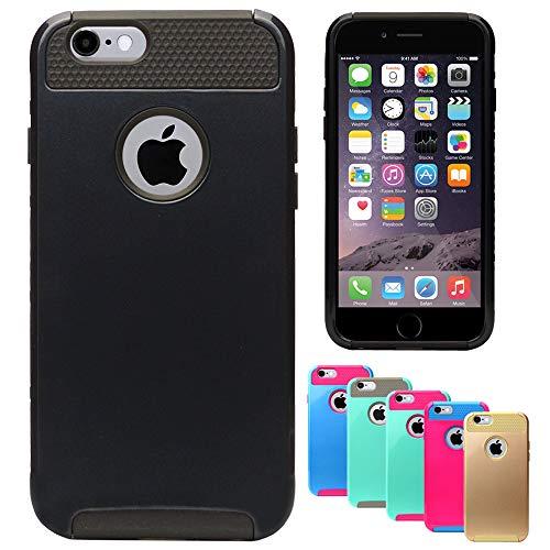 MPG Roar Bumper Hülle für iPhone 4 / 4S, Handyhülle Schutzhülle Outdoor Case für iPhone 4 / 4S, Hardcase, Dual Layer, Schwarz