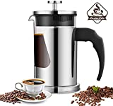 Instalite French Press Coffee Maker (600 ml) with 4 Level Filtration System