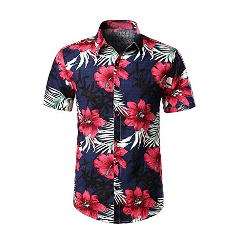 Hemd Herren Hawaiihemd Lustig 3D Gedruckt Kurzarm Strand Button Down Graphic Hemden T- Shirts Sommer Casual Hemden Leichte Hemd Freizeit Hemden