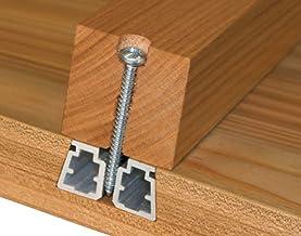 Gedotec Gratlijst voor houten tafelbladen uitlijningsbeslag met uittrektafels | tafelbeslag met lengte: 1070 mm | lijst al...