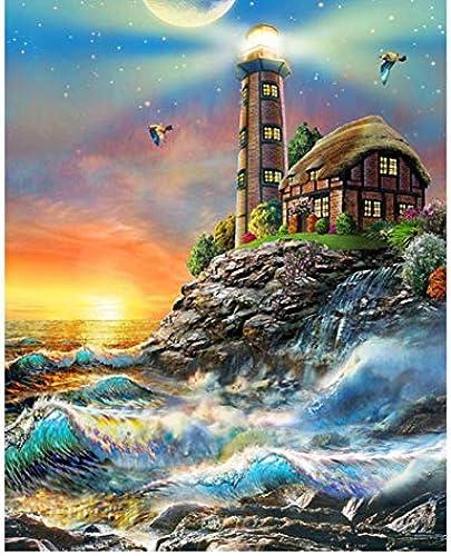 precio razonable XIGZI Broca Cuadrada 5D DIY Diamante Pintura Faro de de de Playa Bordado de Punto de Cruz Rhinestone Mosaico Decoración sin Marco  bienvenido a orden