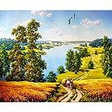 zxddzl Pintura de paisajes con Pinturas artísticas acrílicas utilizadas para...
