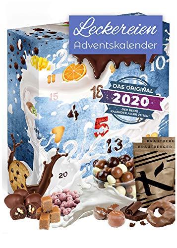 Leckereien Adventskalender mit vielen Knabberein I Genuss Knusper Weihnachtskalender I Nascherein Adventszeit I Feinkost Geschenkidee I Süßigkeiten Adventskalender