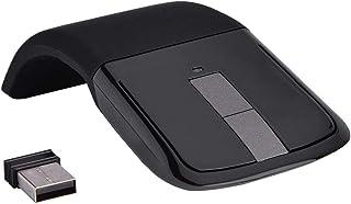 Bewinner - Ratón táctil plegable inalámbrico - Fotoeléctrico y ergonómicos, 1000 DPI con receptor USB para PC/Notebook/Sma...