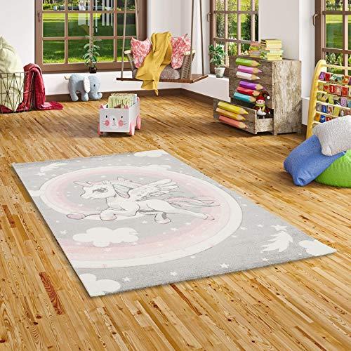 Pergamon Maui Kids - Alfombra Infantil - Motivo Unicornio - Rosa Pastel - 5 tamaños