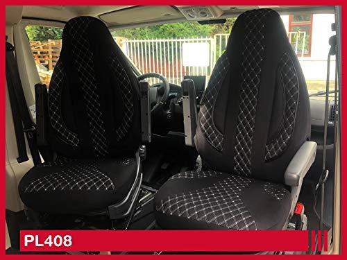 Maß Sitzbezüge Schonbezüge kompatibel mit FIAT Ducato Typ 250 Fahrer & Beifahrer ab 2006 - 2022 PL408