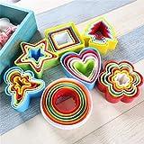 6 unids/set Cookie Cake Molde Molde Bizcocho Fondant DIY Torta Cocina Cocina Cocina Herramientas Herramientas Cake Cookie Molde Bizcazas (Color : Heart shaped)