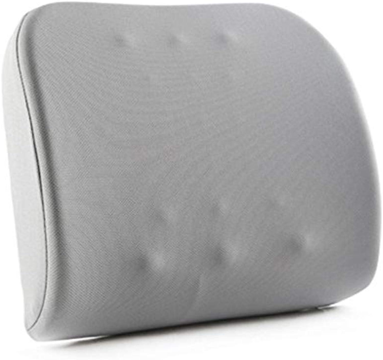 BYZ Coussin de dos en coton à mémoire de forme pour siège de bureau à domicile avec coussin à la taille 42  33Cm