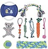 BOMPOW <span class='highlight'>Dog</span> Toys Durable Puppy Toys Avoiding Puppy Boredom Anxiety Teething Set Knots Cotton Doy <span class='highlight'>Chew</span> Toys for Puppy Small <span class='highlight'>Pet</span>s, 10 Pack