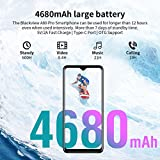 4G Mobile Phone, Blackview A80 PRO Android Phones, 6.49 inches Waterdrop Full-Screen, 4GB + 64GB, Quad Rear Camera, 4680mAh Big Battery, Dual SIM Free Smartphone with Fingerprint, Face ID - Black