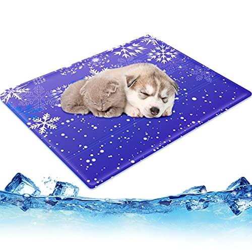 ペット用ひんやりマット 撥水加工 2重構造 無害ジェル 50*65cm 六つ折り畳めるクールマット 犬 猫 柔らかい...