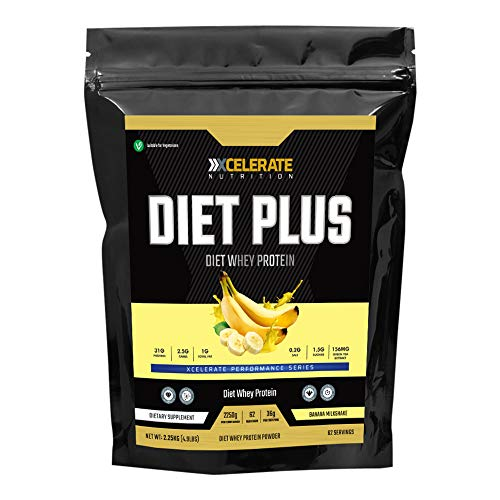 XCelerate Nutrition Diet Shake 2.25KG Powder Shakes for Weight Loss for Women Men Low Calories Sugar Whey Protein Ultralean Lean Meal Replacement Shake (Banana Milkshake)