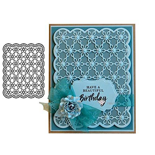 Gemini_mall Metallstanzformen, Blumen-Hintergrund, für Scrapbooking, Papier, Karten, Dekoration, 2 Stück Silber