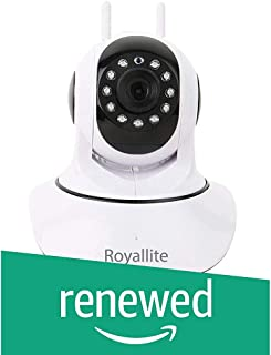 (Renewed) Royallite Royal Lite HD IP Wifi CCTV Indoor Security Camera,(White Color)
