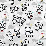 Riley Blake Panda Love Baumwollstoff, halber Meter
