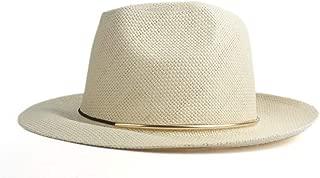 CHENDX High Quality Hat, Popular Fashion Summer Straw Paper Ladies Men's Cap Sun Hat Casual Unisex Beach Hats Panama Hat Jazz Sun Hat (Color : Khaki, Size : 56-58CM)