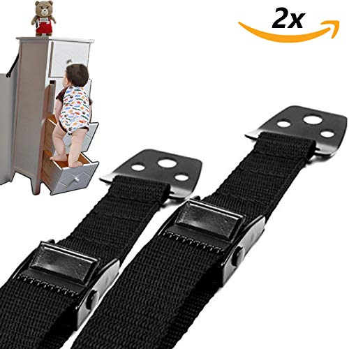 liltourist Möbel und Fernseher Kippsicherung mit 4x Eckenschutz