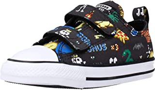 Converse Chuck Taylor All Star 2V Ox Gamer Noir/Noir (Storm Wind/Black) Toile Bambin Formateurs Chaussures
