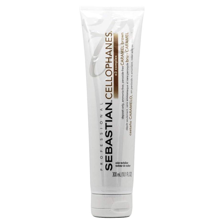 配偶者延期する満員Sebastion Cellophanes Hair Color セロファンCARAMEL BROWN、A3複合体とカラーリバイタライザー caramel brown - 10.1オンス/ 300ミリリットル
